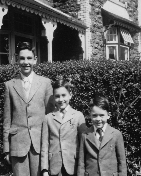 David, Geoffrey and RSW (aged 5), 1952